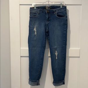 Kut from the Kloth cropped denium jeans